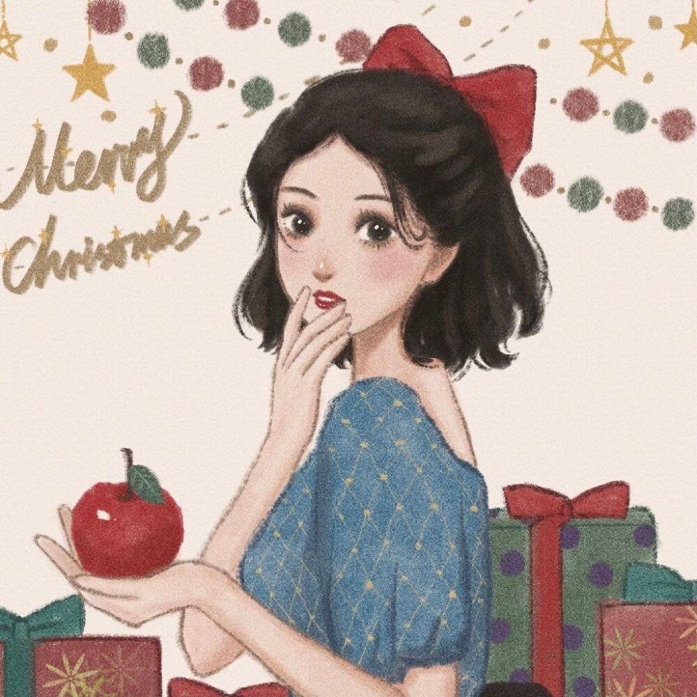 圣诞迪士尼公主闺蜜头像