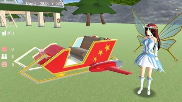 樱花校园模拟器圣诞节天使套装图1
