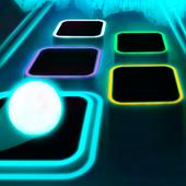 霓虹灯瓷砖跳跃游戏