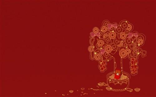 新年红红火火的祝福图片