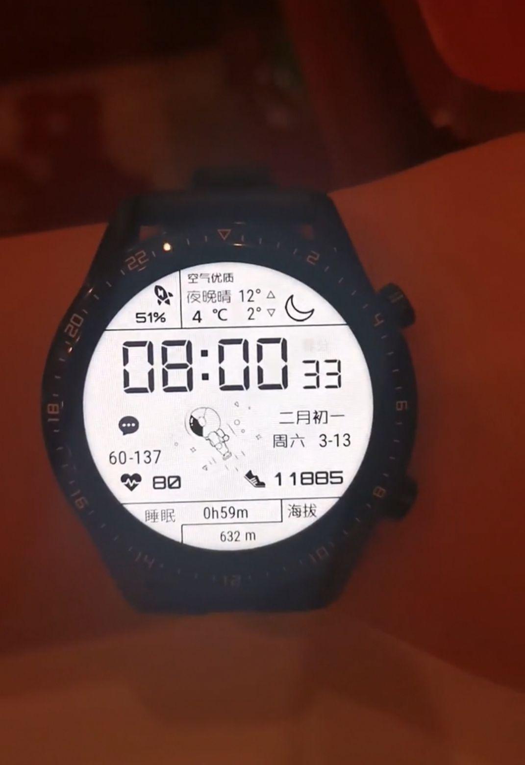 华为手表太空人表盘免费图3